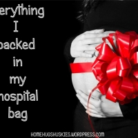Everything I packed in my hospital bag